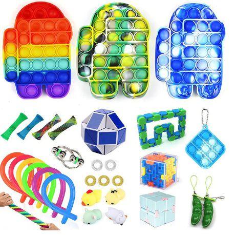 Kit com 31 peças Push Pop Bubble Sensory Fidget Toy Anti Stress I - Alta qualidade