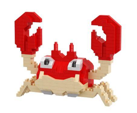 Mini Blocos de Montar Pokémon 10 Cm  -  Krabby
