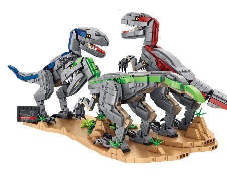 Velociraptors 1780 peças 22 Cm - Blocos de Montar