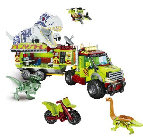 Blocos de Montar Jurassic Park 539 peças + 3 Dinossauros