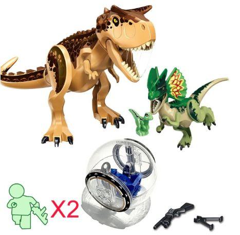 Kit Jurassic Park Blocos de Montar Modelo 5 - Cinema Geek