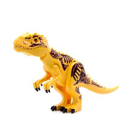T-REX  Yellow 28 Cm de Comprimento Jurassic Park - Blocos de Montar