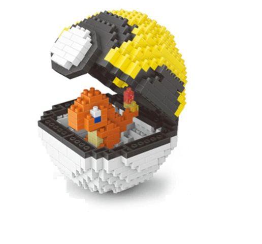 Blocos de Montar Charmander + pokébola Ultraball 417 peças - Pokémon