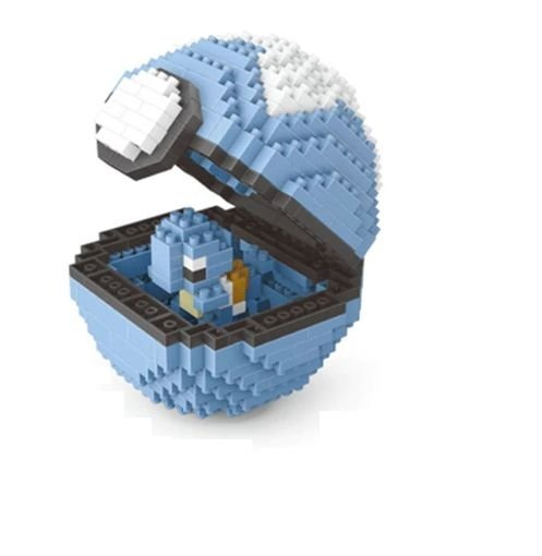 Blocos de Montar Squirtle + pokébola Diveball 399 peças - Pokémon