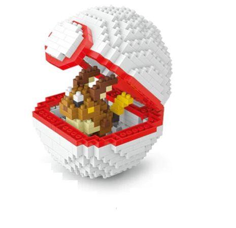 Blocos de Montar Eevee + pokébola Premier Ball 440 peças - Pokémon