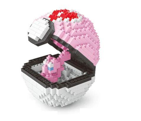 Blocos de Montar Mew + pokébola Loveball 401 peças - Pokémon