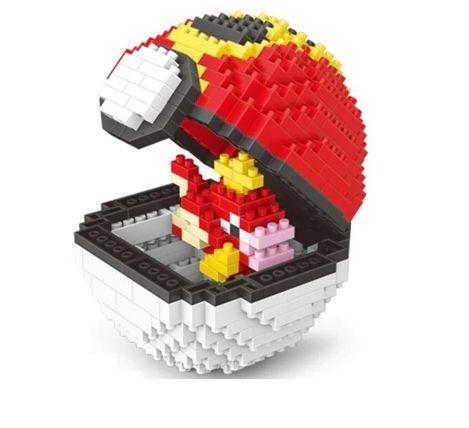 Blocos de Montar Magikarp + pokébola Repeat Ball 452 peças - Pokémon