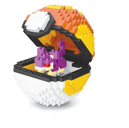Blocos de Montar Rattata + pokébola Fastball 436 peças - Pokémon