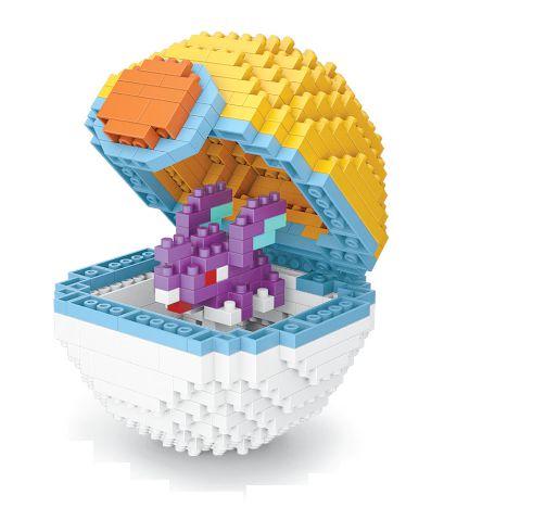 Blocos de Montar Nidorino + pokébola Parkball 427 peças - Pokémon