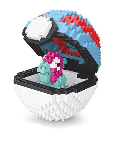 Blocos de Montar Porygon + pokébola Greatball 430 peças - Pokémon