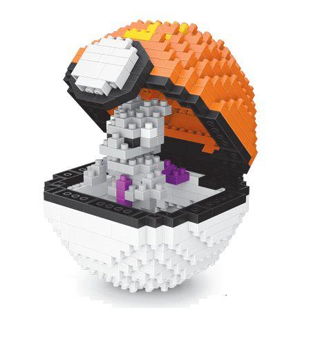Blocos de Montar Mewtwo + pokébola Sports Ball 442 peças - Pokémon