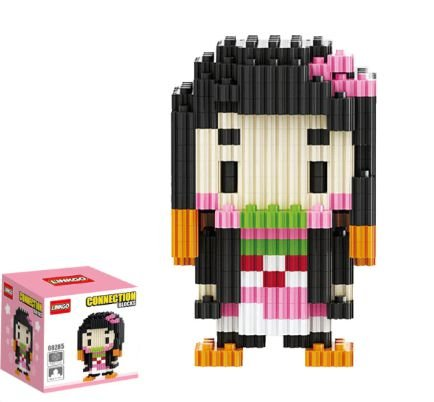 Mini Blocks MQFun Demon Slayer Nezuko Kamado + 242 peças 8,2Cm x 5,1Cm - Kimetsu No Yaiba