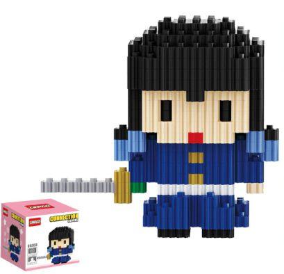 Mini Blocks MQFun Demon Slayer Muichiro Tokito + 257 peças 8,2Cm x 9Cm - Kimetsu No Yaiba