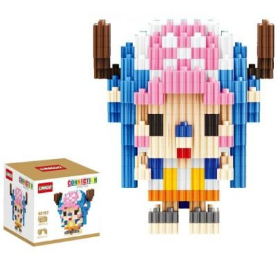 Mini Blocks MQFun One Piece Tony Tony Chopper + 286 peças 7,8Cm x 6,6Cm - Animes Geek