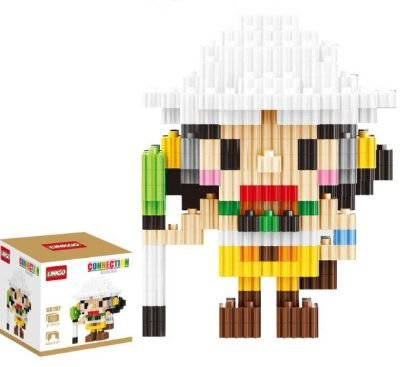 Mini Blocks MQFun One Piece Usopp + 317 peças 8,6Cm x 6,6Cm - Animes Geek