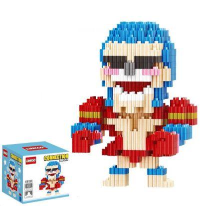 Mini Blocks MQFun One Piece Franky + 334 peças 10,6Cm x 7,7Cm - Animes Geek