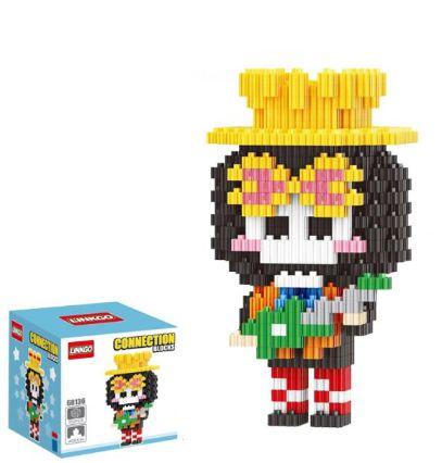 Mini Blocks MQFun One Piece Brook + 350 peças 11,8Cm x 6,2Cm - Animes Geek