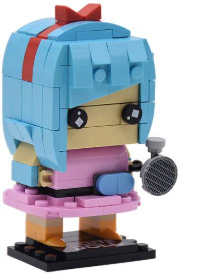 Brickheadz Bulma + 152 peças Dragon Ball - Blocos de montar 10Cm x 5Cm x 6Cm