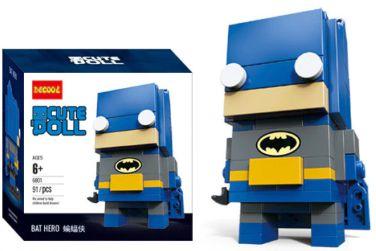 Brickheadz Bat Man + 91 peças Dc Comics - Blocos de montar 9Cm x 3,5Cm x 4,5Cm