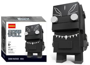Brickheadz Pantera Negra + 65 peças Vingadores - Blocos de montar 9Cm x 3,5Cm x 4,5Cm