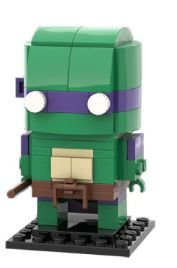 Brickheadz Donatello +95 peças TMNT - Blocos de montar 12Cm x 5Cm x 5Cm