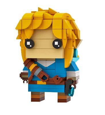 Brickheadz Link +248 peças The Legend Of Zelda - Blocos de montar 7Cm x 5Cm x 5Cm