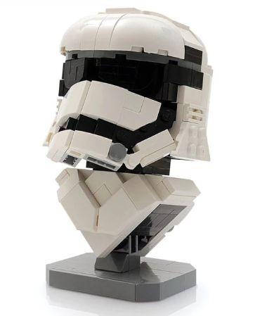 Capacete Helmet Stormtrooper +286 peças Star Wars - Blocos de montar 19Cm x 11Cm x 11Cm