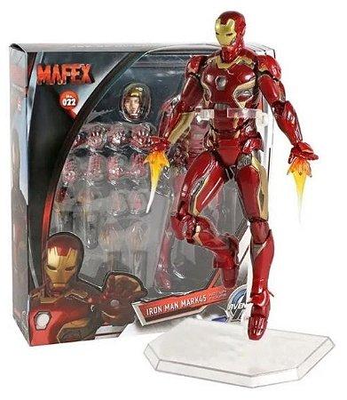 Action Figure Homem de Ferro - 18 Cm - Vingadores - Original Mafex