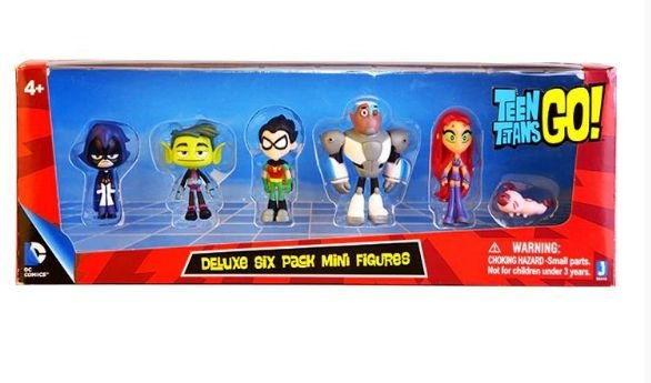 Pack 6 Figures Teen Titans GO! 12Cm - Animes Geek