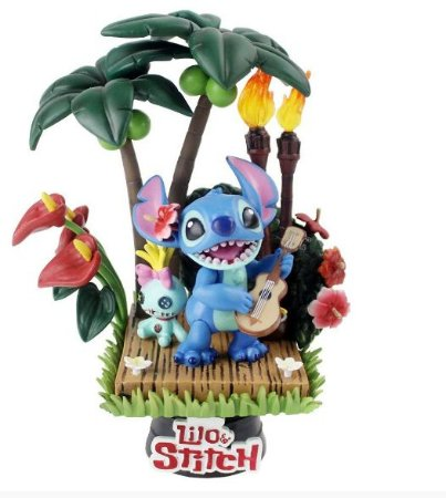 Figure Estátua Stitch e Xepa - Lilo & Stitch - Animes Geek