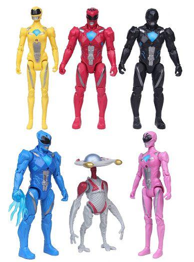 Pack 6 figures Power Rangers Movie - Cinema Geek