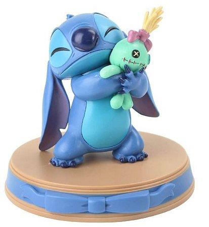 Figure Estátua Stitch e Xepa 11Cm - Lilo & Stitch