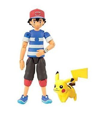 Boneco Articulado Ash Gen.6 e Pikachu - Pokémon Sun & Moon