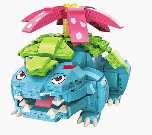 Blocos de Montar Venusaur 497 Peças - Pokémon