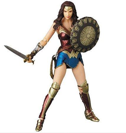 Action Figure Mulher Maravilha Liga da Justiça Mafex - Dc Comics