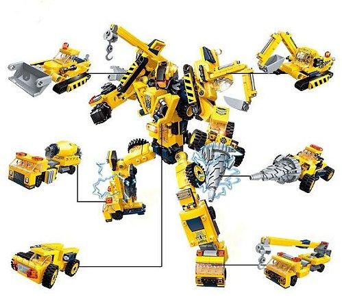 Blocos de Montar Transformation League Megabot 479 peças - Construction Vehicles