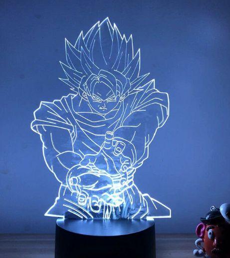 Luminária 3D Goku Kamehameha 07 Cores - Dragon Ball Z