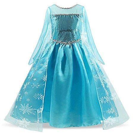 Fantasia Princesa Frozen - Cosplay Infantil
