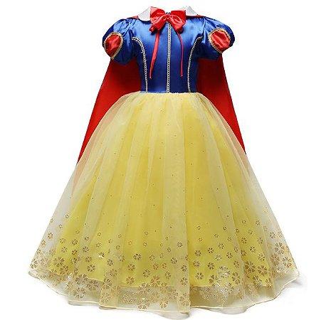 Fantasia Princesa Branca de Neve - Cosplay Infantil