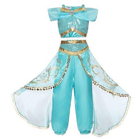 Fantasia Princesa Jasmine - Cosplay Infantil