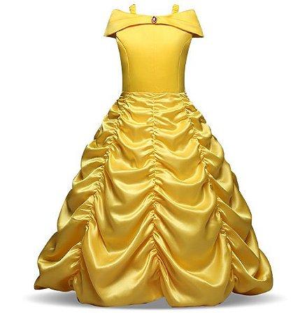 Fantasia Princesa Bela - A Bela e a Fera Cosplay Infantil