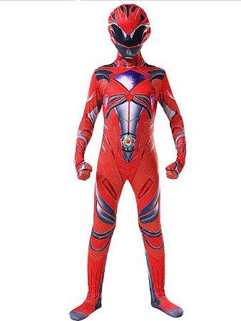 Fantasia Power Ranger Vermelho - Cosplay Infantil
