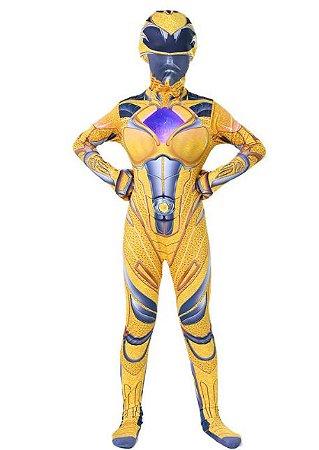Fantasia Power Ranger Amarelo - Cosplay Infantil