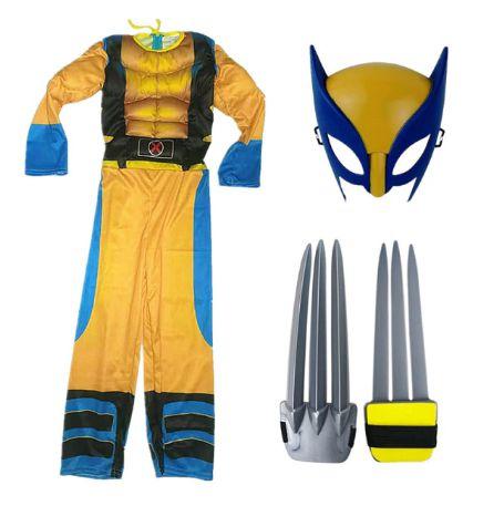 Fantasia Wolverine X-Men - Cosplay Infantil