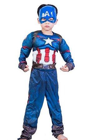 Fantasia Capitão América - Cosplay Infantil