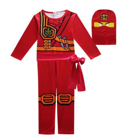 Fantasia Ninjago Ninja Vermelho - Cosplay Infantil