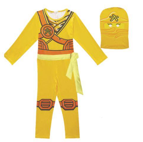 Fantasia Ninjago Ninja Amarelo - Cosplay Infantil