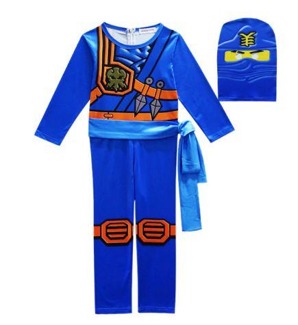 Fantasia Ninjago Ninja Azul - Cosplay Infantil