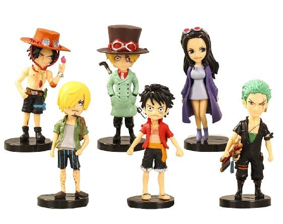 Kit 6 Personagens One Piece - Pack One Piece