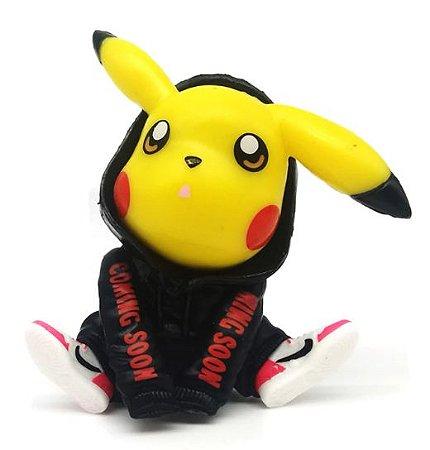 Mini Figure Pikachu Moletom Preto - Pokémon